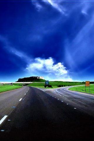iPhone Wallpaper Traveling Highway Scenery
