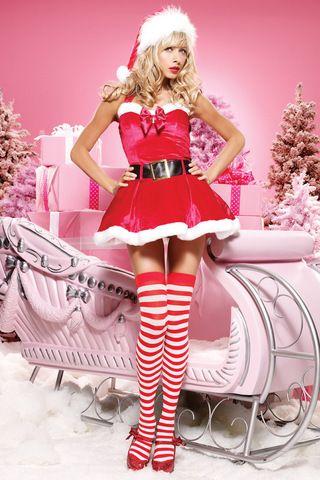 Sexy Santa's Babe iPhone Wallpaper