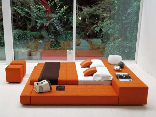 Bed for Middle Room Design Ideas