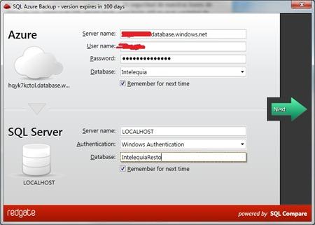 SQL Azure Backup