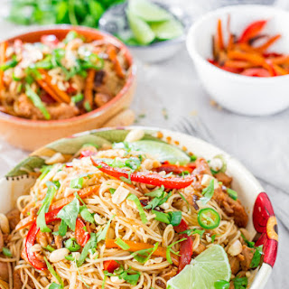 Crockpot Chinese Pork with Noodles