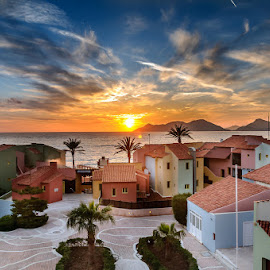 Sunset at Lykia world holiday resort by Ivelin Donchev - Buildings & Architecture Other Exteriors ( vilage, sunset, holiday place, turkey, lykia world, nikon d90 )
