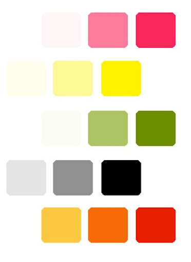 Examples of this would be below monochromatic wedding colors
