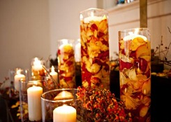 rose petals and candle wedding