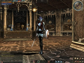 My Lineage II character - she just advanced to mini-skirts armor.