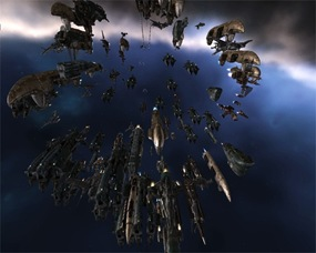 Eve Online fleet battle