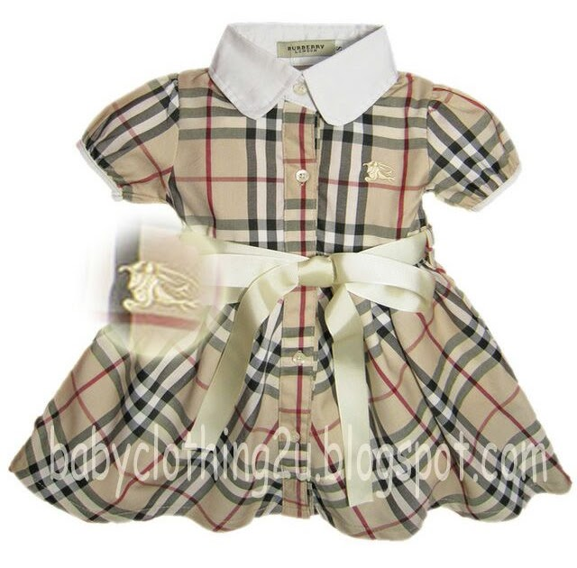 Girls Smoking Dress - Burberry