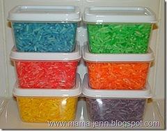 ris färgat