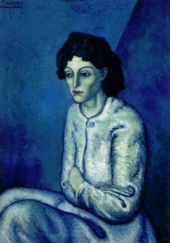 picasso self portrait 1899. picasso self portrait blue