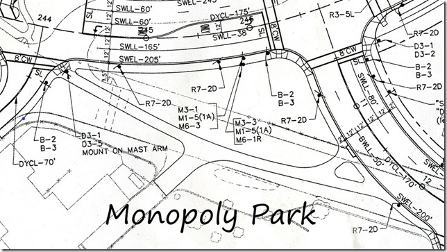 Monopoly Park, based on bypass road blueprints