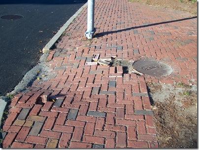 Curbcut at Salem District Court Driveway.