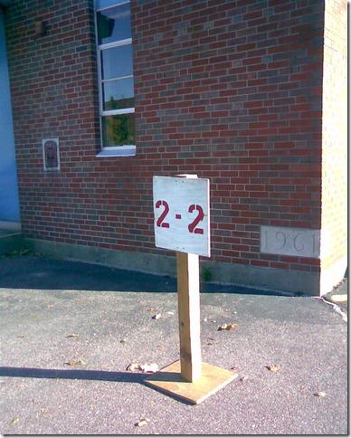 Ward 2, Pct. 2 sign at St. John's