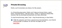 Private Browsing in Firefox has been disabled or Grayed out