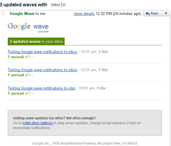 Turn On Email Notifications to your Inbox for wave Updates