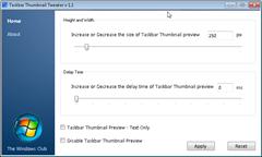 Taskbar Thumbnail Tweaker 1.1