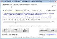 w7 Taskbar Tweaker