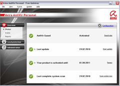 Download Avira Antivir 10 Personal – Free Antivirus