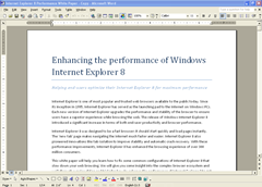 IE8 performance boost whitepaper