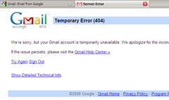 Gmail goes Down Again