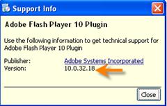 flash player version testen