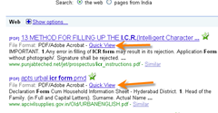 quick view for PDF files in Google search results