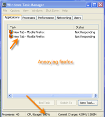 Firefox not responding