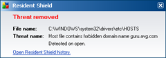 forbidden domain nmae in hosts file