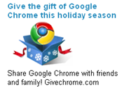 Google Chrome as holiday gift