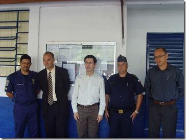 Carlinhos Silva, Dr. Tobias, Prefeito Hamilton, CMT Marcel e Sec. de Segurança Santana