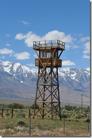 Gaurd tower at Manzanar Internment Camp