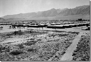 Manzanar in he high desert by Ansel Adams