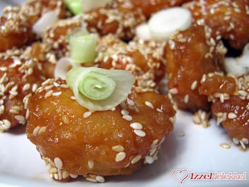 Kínai szezámmagos csirkefalatok