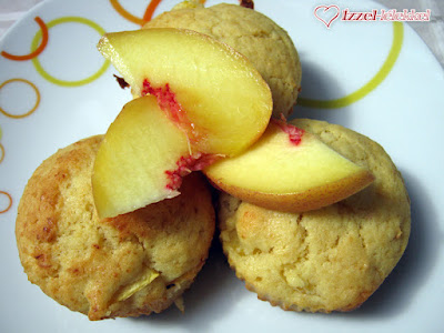 Barackos-túrós muffin