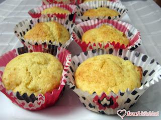 Túrós-barackos muffin