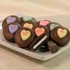 valentine decorated oreo cookies