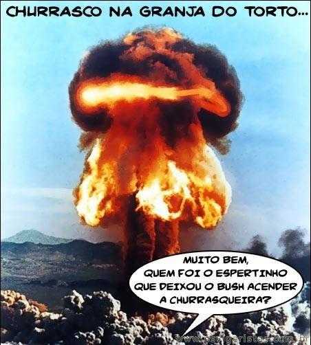 CHURRASCO COM O BUSH É ASSIM...