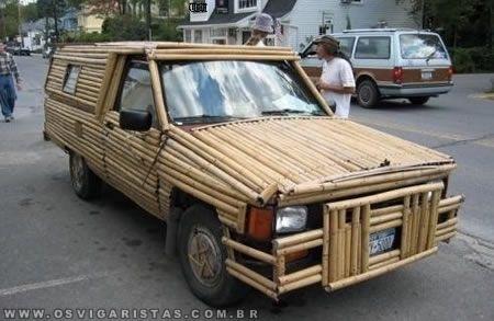 acabamentos de bambu