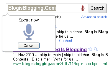 Voice Search Google Chrome extension Speak Now