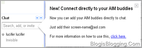 Connect Directly To AIM Buddies In Gmail Gtalk Chat