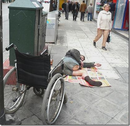 beggar athens