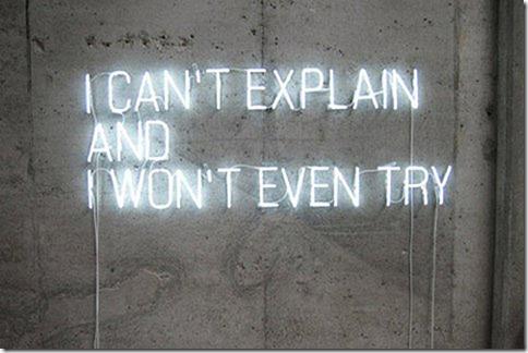 cannot explain