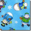 Winter Joy - Snowman Toss Aqua #219-2