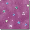 Winter Joy - Small Snowflakes/Stars Plum #221-3
