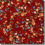 Angels Among Us - Floral & Scroll Red #20852-R