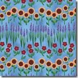 Angels Among Us - Garden Flowers Blue #20856-B