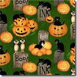 Pumpkin Hollow - Pumpkins, Cats & More Green #93066-789