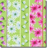 Happy Flowers - Daisy Insect Stripe #DD25Green