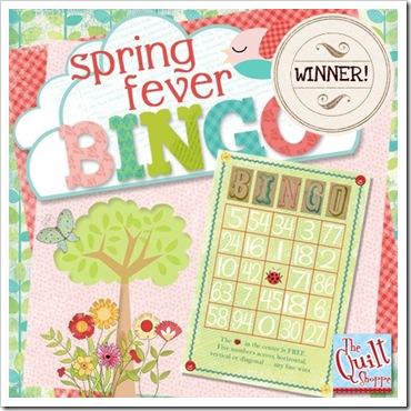 spring fever Winner bingo hangtag