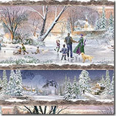 Winter's Gleam - Repeating Stripe #16-145