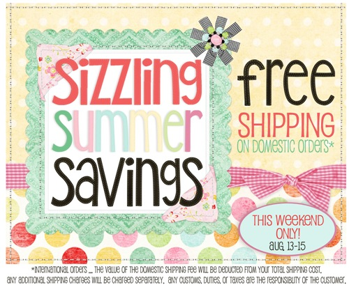 Sizzling Summer Savings -- FREE Shipping!